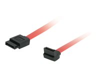 C2G 180 Degree to 90 Degree Right Angle Serial ATA (SATA) Cable - Câble SATA - Serial ATA 150/300/600 - SATA (F) pour SATA (F) - 50 cm - connecteur à 90°, connecteur à angle droit - rouge 81824
